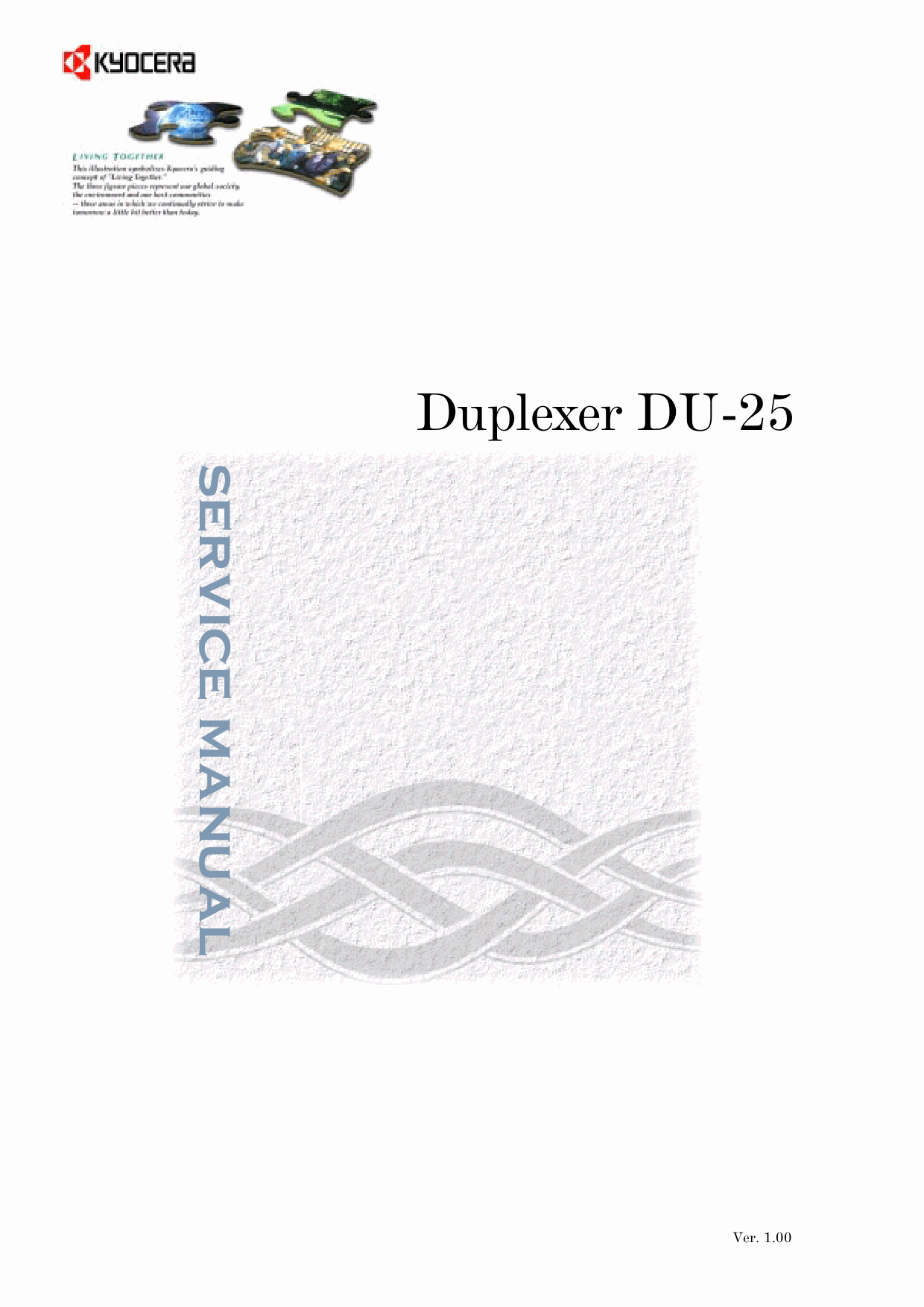 KYOCERA Options Duplexer-DU-25 Parts and Service Manual-1